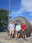 Scott, Richard and Gary at the Tip of Borneo